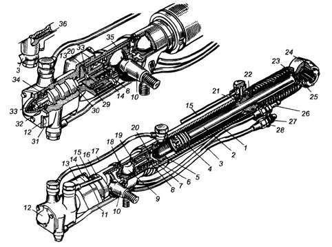 Конструкция гидроусилителя