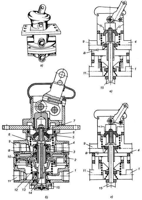 Двухсекционный тормозной кран