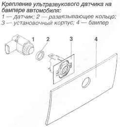 установка ультразвукового датчика
