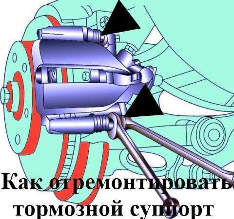 Как отремонтировать тормозной суппорт самому