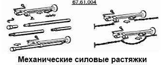 Механические силовые растяжки кузова