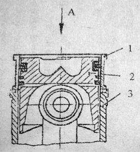 Гильза цилиндра, поршень с шатуном